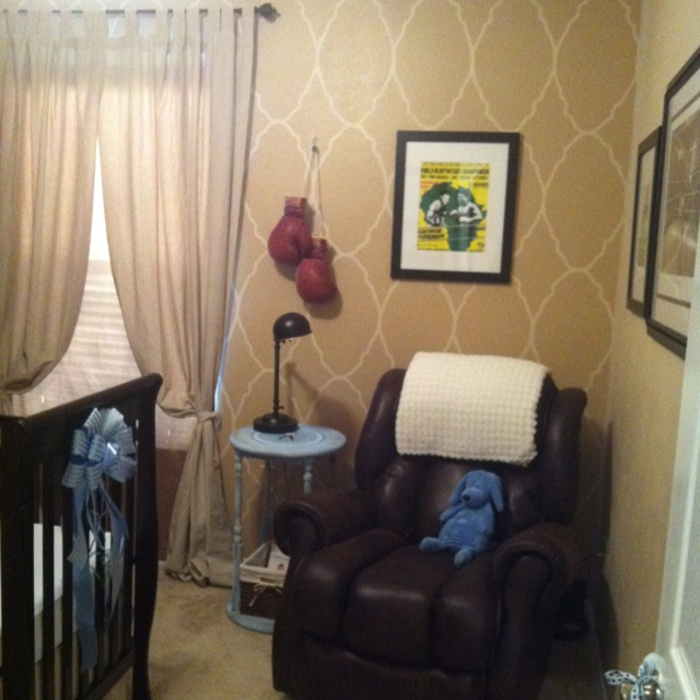 Vintage Boxing Themed Nursery Baby Boy S Room