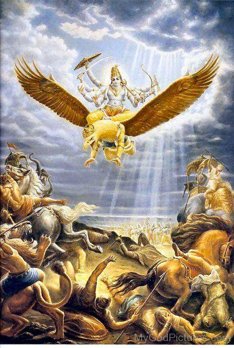 Lord Vishnu Mount On Garuda