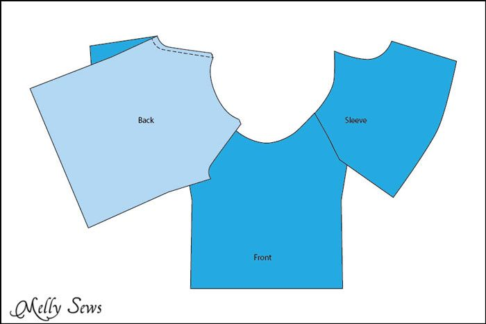 Step 2 - Women's Peasant Top Pattern - Sew a Peasant Top - Melly Sews