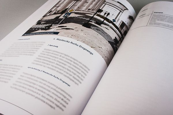 Printed publication with sales offer. Simple layout, pictures and large amount of text.
