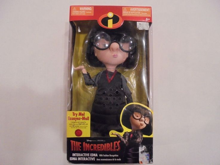 Incredibles 95254: Disney Pixar Incredibles Interactive Edna W Fashion Recognition Doll Sealed -> BUY IT NOW ONLY: $99.99 on eBay!