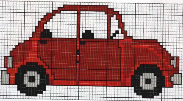small car x-stitch