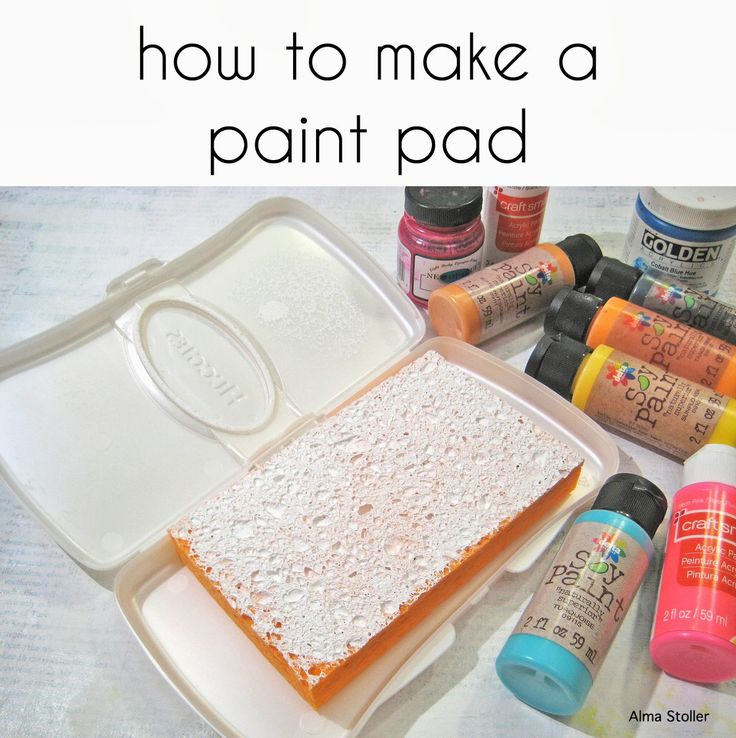 Alma Stoller: tutorial:how to make a paint pad