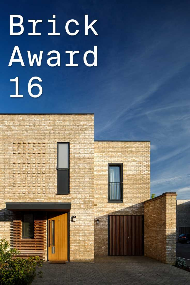 #WienerbergerBrickAward 2016 nominee 10: Seven Acres Cambridge, UK by Formation Architects, UK. Openings for storey-high windows, Juliet balconies and recessed brick panels are 'carved' into the brick work and create a rich texture across the façades. Photographer: Louis Sinclair