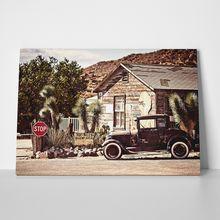 Desert old car