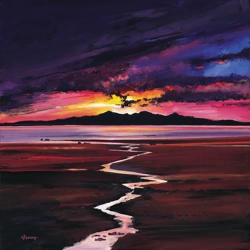 Art Prints Gallery - Sunset Over, Arran (Limited Edition), £139.00 (http://www.artprintsgallery.co.uk/Davy-Brown/Sunset-Over-Arran-Limited-Edition.html)