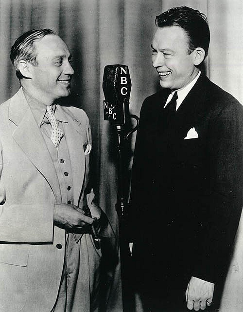 Jack Benny, Fred Allen. Two of the biggest radio stars