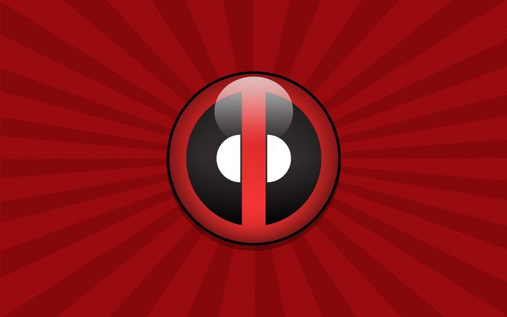 red deadpool logo wallpapers hd