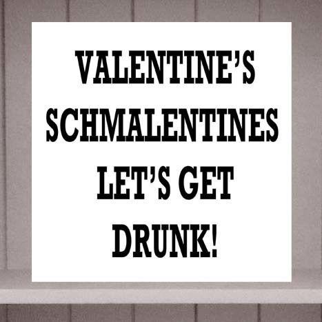 Valentine's Schmalentines Valentine's Day Card by Eskimo Circus www.folksy.com/shops/eskimocircus