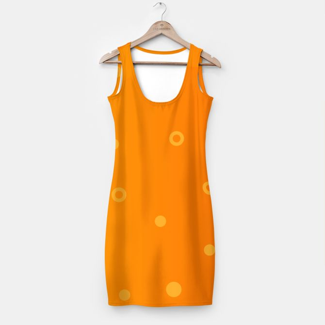 Designers Orange dress with dots