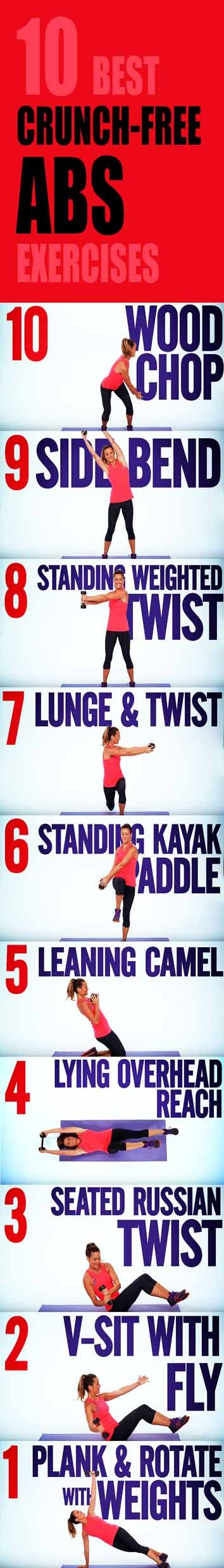 10 Crunch-Free ABS Exercises