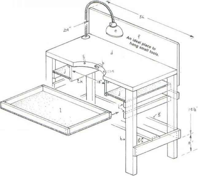Jewelers Workbench Plans
