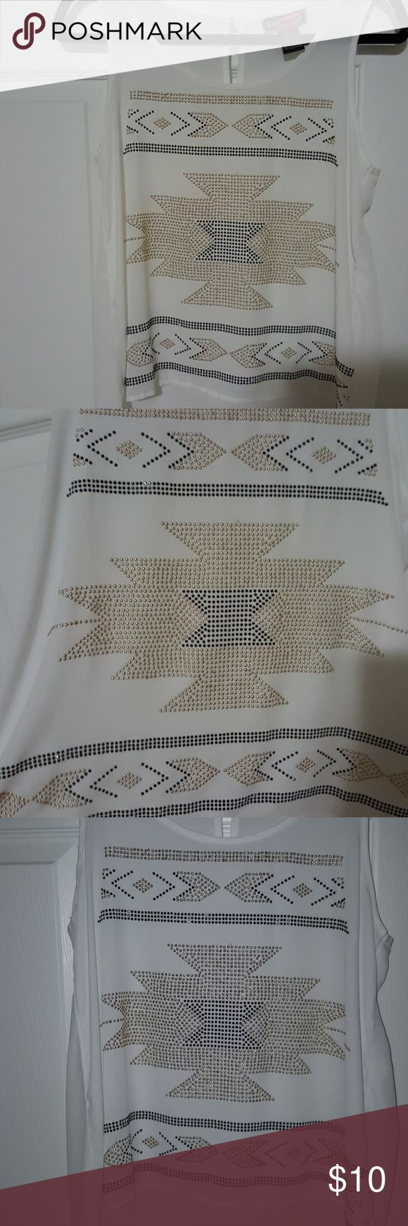 NWOT, Say What? Tribal shirt NWOT, Say What? Tribal Shirt Size M, Has on small freckle of dirt or dot on pic #7 you can barely see it Say What? Tops