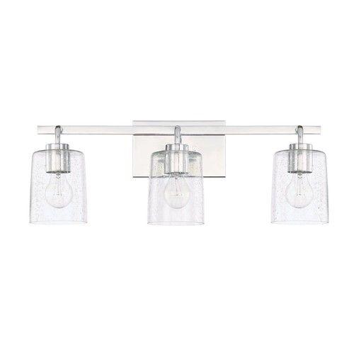 C128531CH449 Greyson 3 Bulb Bathroom Lighting - Chrome at