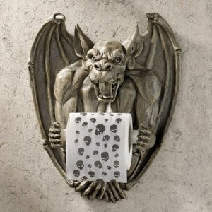 who doesn't love gargoyles? Especially a toilet paper holder....