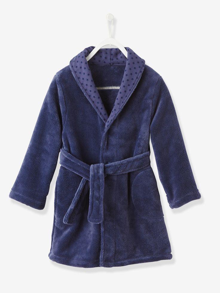 Elle est douce et bien chaude : c'est la robe de chambre idéale pour réchauffer l'hiver! Collection Automne-Hiver 2016 - www.vertbaudet.fr