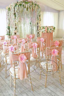 Коралловая цвет на свадьбе