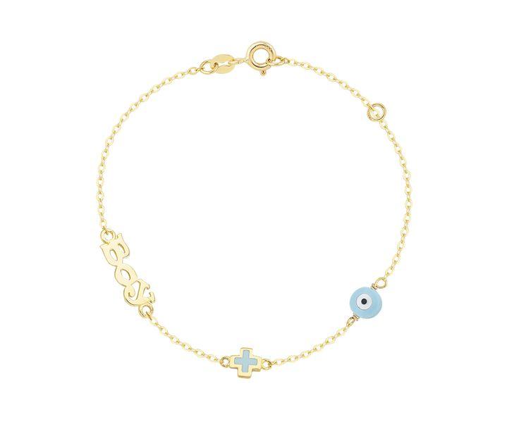 boy gold bracelet in 14K