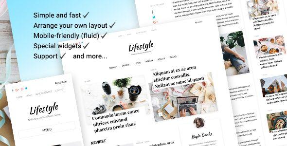 Lifestyle - Personal & Magazine WordPress Responsive Blog Theme