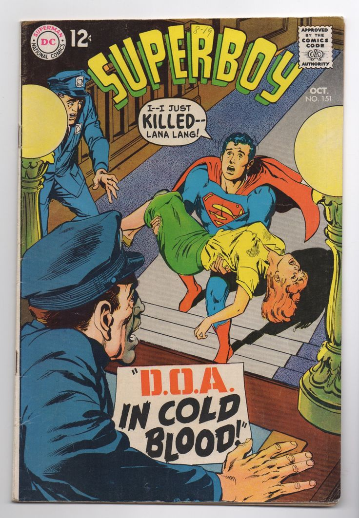 """Superboy Vol. 1 #151 """"D.O.A. - In Cold Blood"""" - DC Comics 1968 - F+ Condition - Silver Age Comic - Death of Lana Lang by ThisCharmingManCave on Etsy  https://www.etsy.com/listing/534024193/superboy-vol-1-151-doa-in-cold-blood-dc  #SuperBoy #DCComics #Superman #SilverAgeComic"""