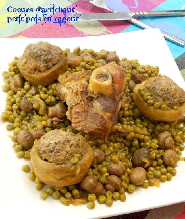 coeurs d'artichaut farcis, cuisine algérienne