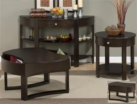 Clay County Casual Oak Coffee Table Set