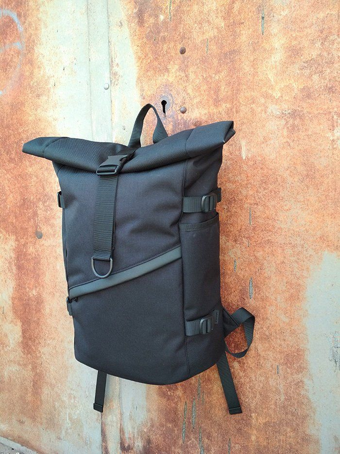 Roll Top Backpackwaterproof Backpackrolltop Backpacklaptop Etsy Rolltop Backpack Black Leather Backpack Men S Backpack