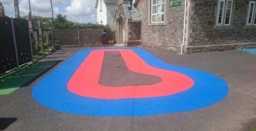 Daily Mile Activity Markings in Somerset #School #Daily #Mile...