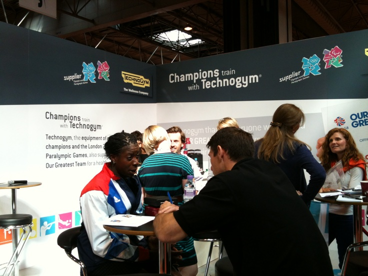 Christine Ohuruogu, 400m silver medalist at London 2012 and a Technogym Wellness Ambassador at Technogym Booth  LIW 2012.