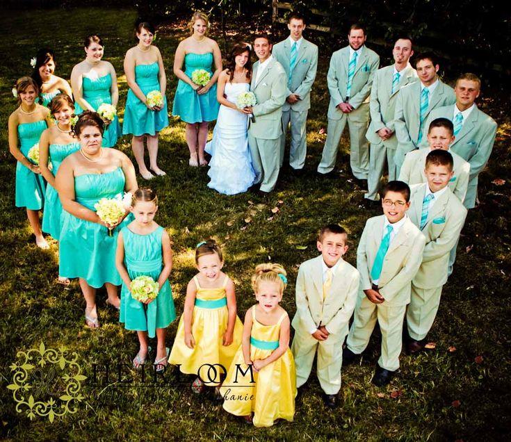 wedding party heart