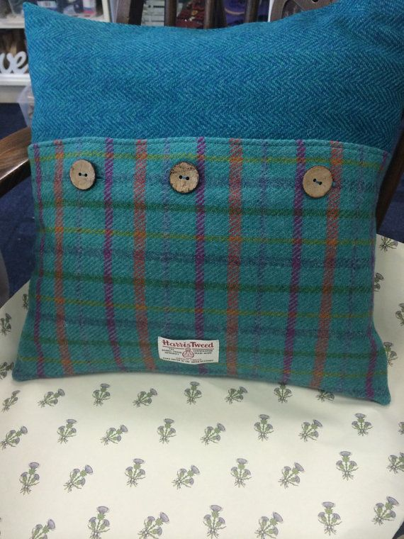 Genuine Harris Tweed cushion by buntysgifts on Etsy