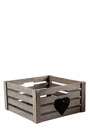 """Whether you need storage space in your bedroom or a basket to make a gift set this chalk heart crate is perfect for you.<div class=""""pdpDescContent""""><BR /><b class=""""pdpDesc"""">Dimensions:</b><BR />L40xW40xH19 cm</div>"""