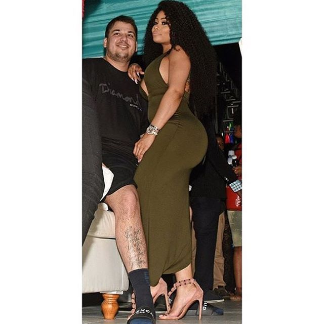 Rob Kardashian and Black Chyna partying in Jamaica at BritJam 2016.