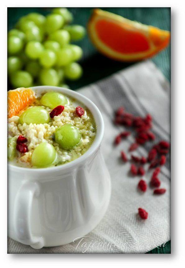 Kasza jaglana z winogronami, pomarańczą, jagodami goji – Tajemnice smaku
