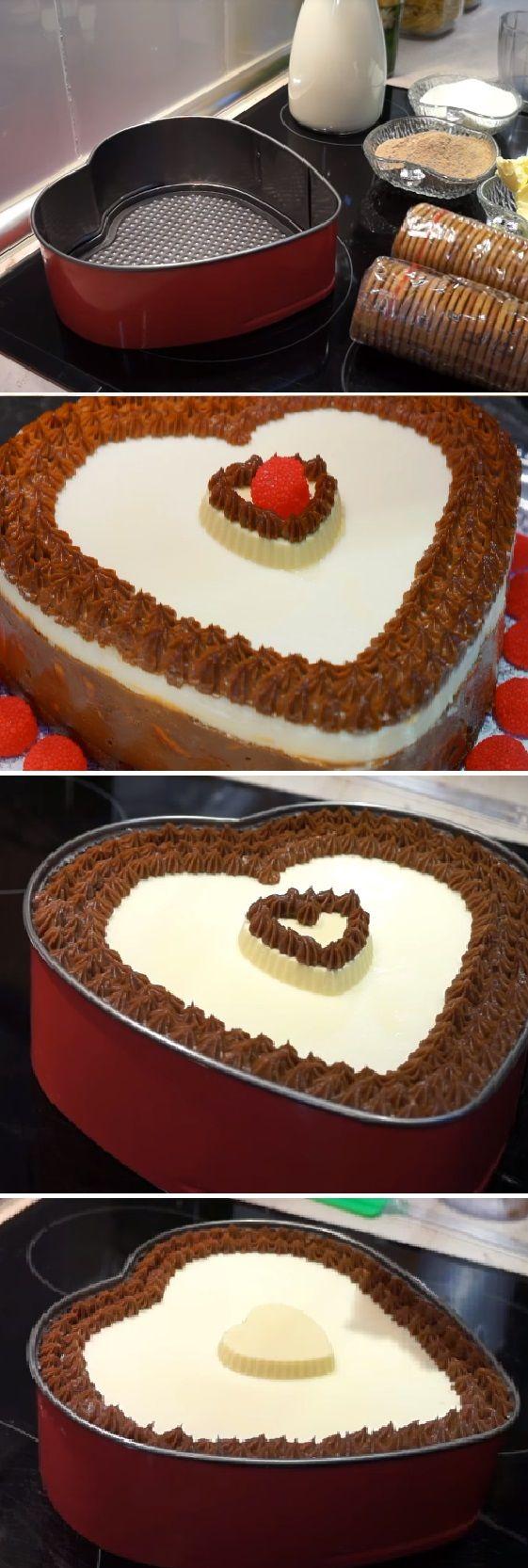 "Tarta de CHOCOLATE SAN VALENTÍN Economica ""Enamorados"" Recetas románticas¨  #sanvalentin #valentinesday #valentine #love #azúcar #tips #cupcakes #cakes #dulces #receta #recipe #casero #torta #tartas #pastel #nestlecocina #bizcocho #bizcochuelo #tasty #cocina #chocolate #pan #panes Si te gusta dinos HOLA y dale a Me Gusta MIREN …"