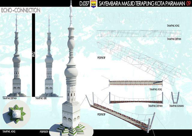 """Sayembara Masjid Terapung Kota Pariaman """"Konsep Desain 5"""" ~ 1000+ Inspirasi Desain Teknologi Konstruksi Arsitektur"""