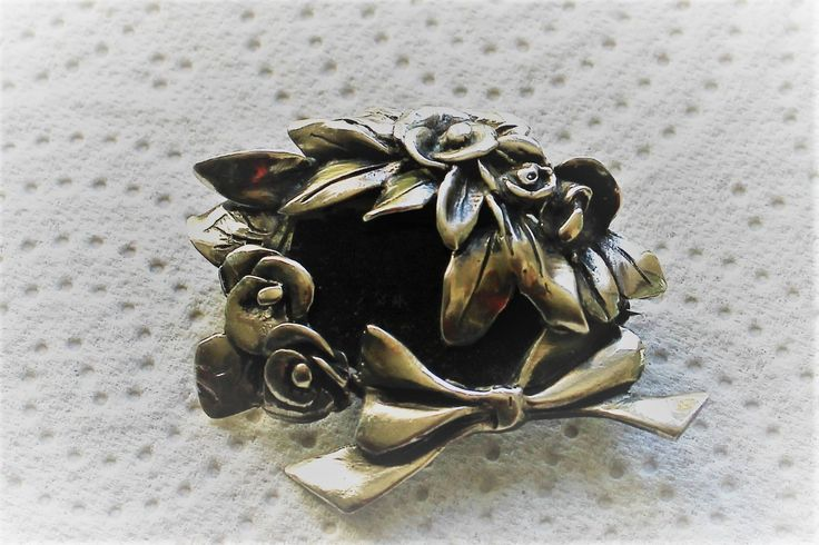 Elegant and Feminine Vintage Floral Silver Brooch - marked 850 - Mourning Brooch? by semelesparlour on Etsy