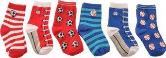 Gudang Sepatu - Country Kids Laki-laki 2-7 Baseball Sepakbola Pick-A-Mix Socks 6 Pasangan | Pusat Sepatu Bayi Terbesar dan Terlengkap Se indonesia