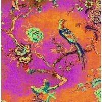 #228 Antique Fragment Pink & Orange Bird - Anna Chandler