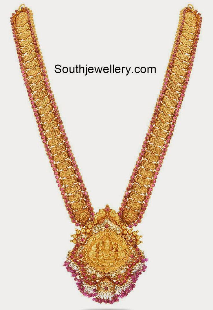 Nakshi Work Gold Long Haram