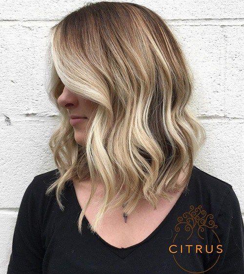 Medium Ash Blonde Hairstyle