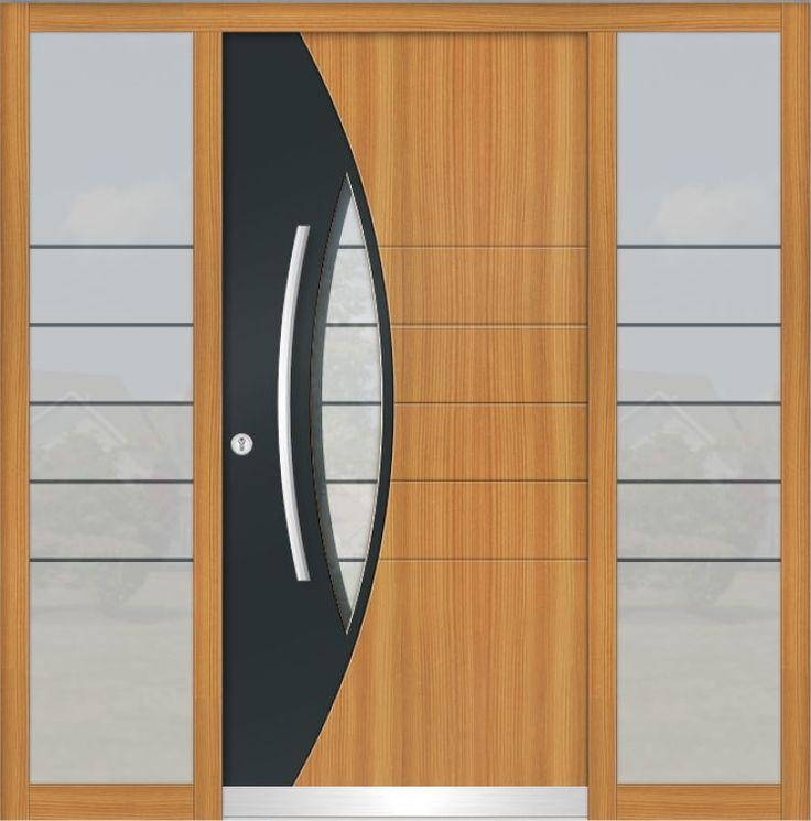 die besten 25 holzhaust ren ideen auf pinterest. Black Bedroom Furniture Sets. Home Design Ideas