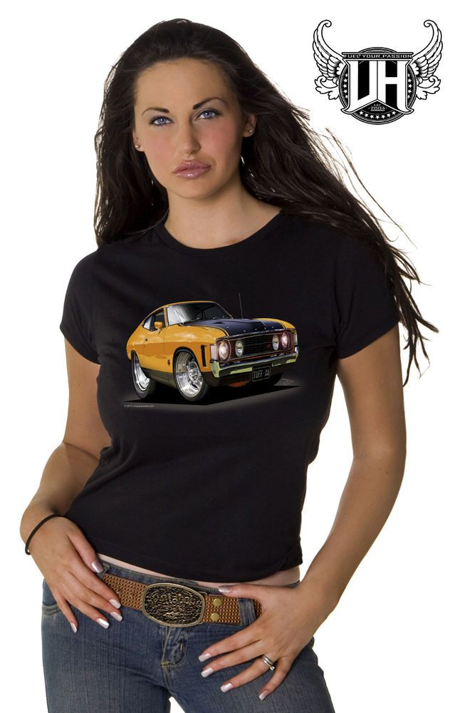Ford XA GT Coupe, Ladies T- Shirt/Singlet, Globe Wheels, Part B