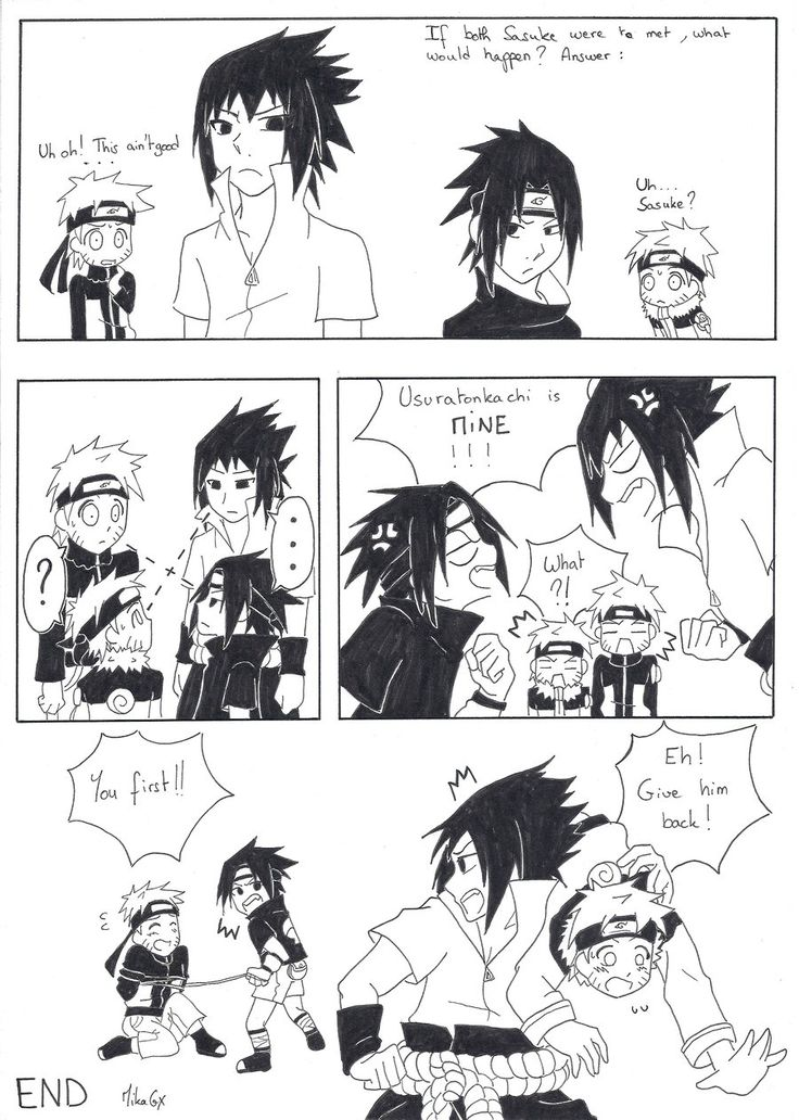Sasuke VS Sasuke: He's mine! by MikaGx.deviantart.com on @deviantART