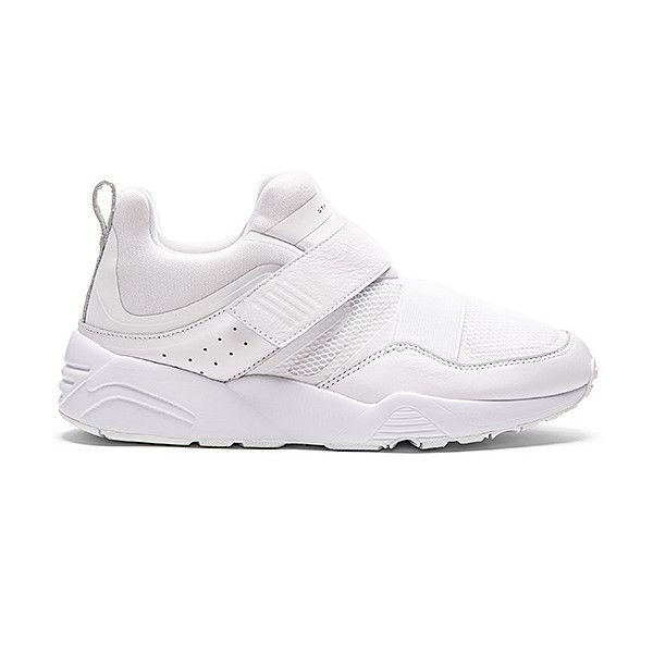 Puma Select x STAMPD Blaze of Glory Strap ($99) ❤ liked on Polyvore featuring men's fashion, men's shoes, shoes, sneakers, mens monk strap shoes, mens velcro shoes, mens leather velcro shoes, mens velcro strap shoes and puma mens shoes