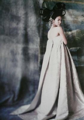 Modern Korean Hanbok inspired dress
