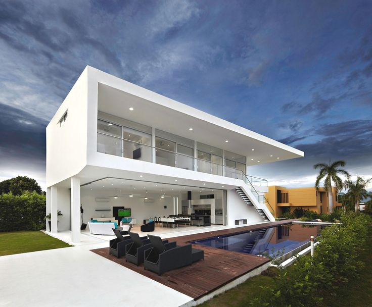 Contemporary GM1 House, Colombia - http://www.adelto.co.uk/contemporary-gm1-house-colombia/  GM Arquitectos a Colombian-based design studio has designed  GM1 House. Completed in 2011, this two-storey contemporary home can be found in Girardot, Colombia.