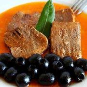 Mancare de limba cu masline - mod de preparare si ingrediente. Mancare de limba de vitel cu masline. Mancare de limba cu masline - retete culinare mancare.