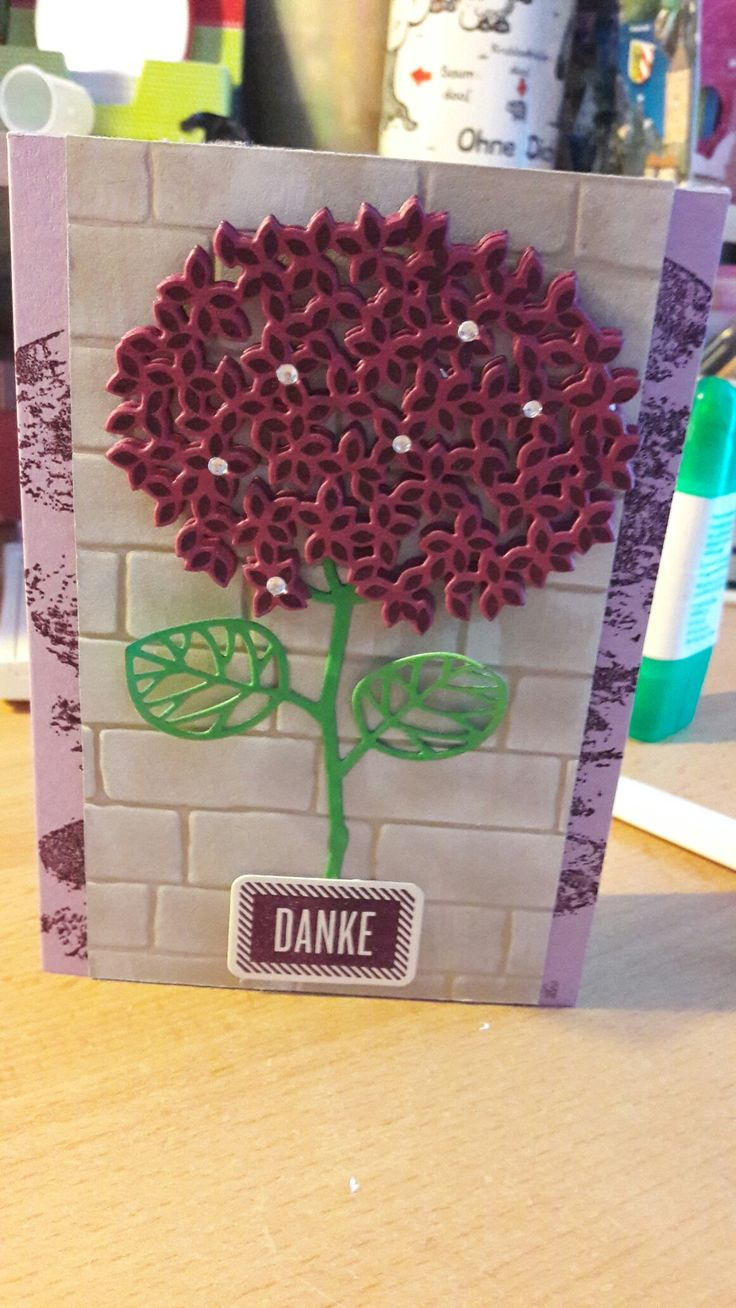 Stampin up Hortensie