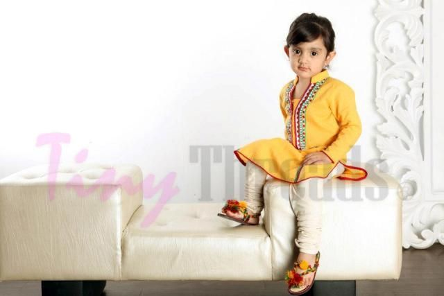 Summer kurtas for baby girls – Kids kurta designs